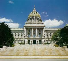 picture of Harrisburg state capitol